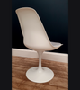 Tulip Style Swivel Chair Matt White - Onske