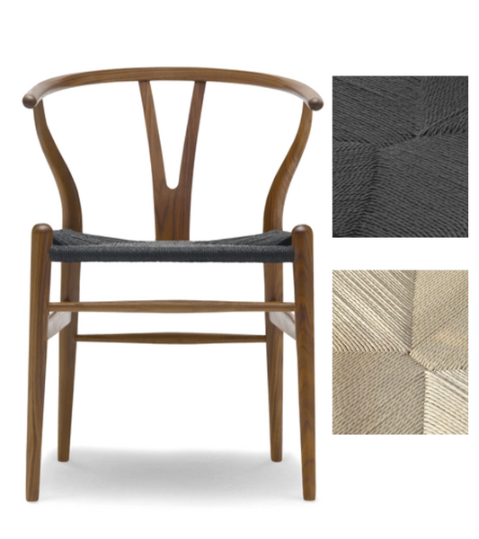Wishbone Y Chair Hans Wegner style Premium Quality in Walnut finish - Onske
