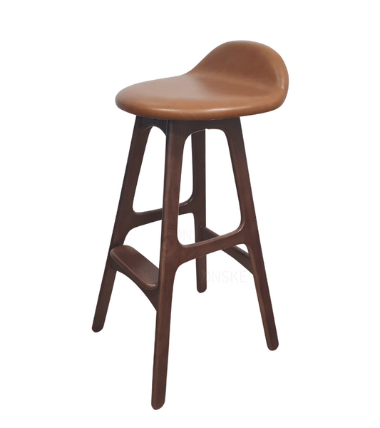 Erik Buch Style Counter Bar Stool 64cm Seat Height - Onske