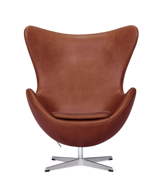 Premium Leather Egg Chair Arne Jacobsen Style - Onske