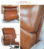 EA 219 style Office Chair High Back Full Leather - Onske