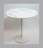 White Marble Tulip Lamp Table - Onske