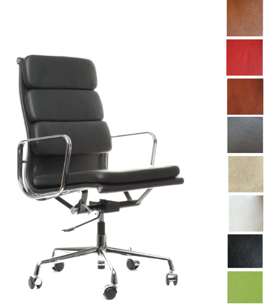 EA219 style Office Chair High Back Full Leather - Onske