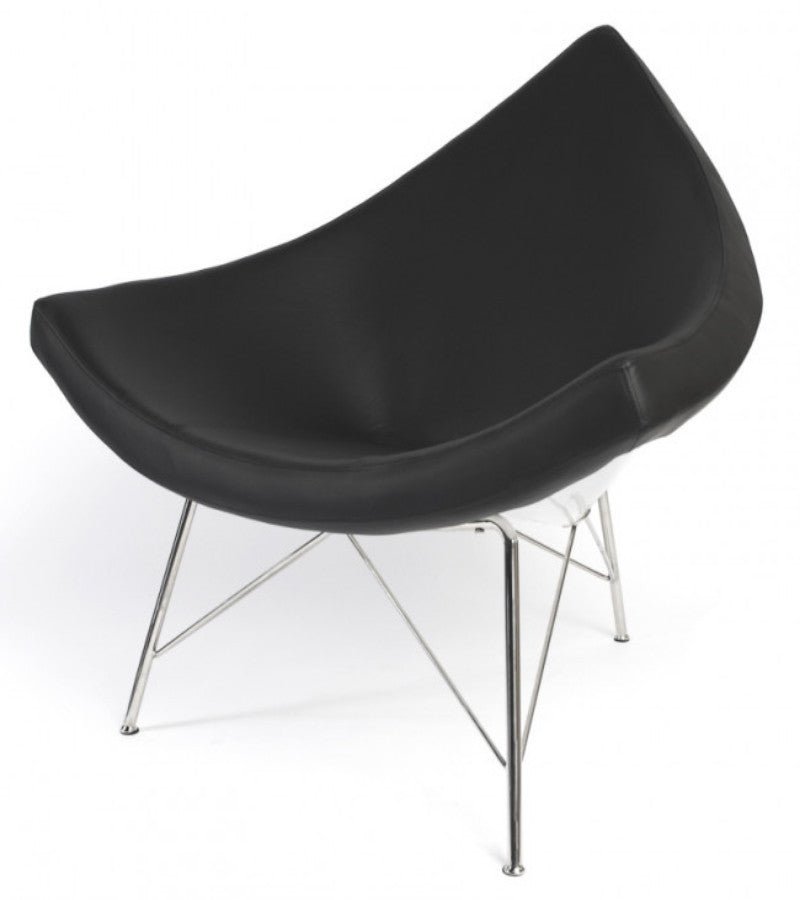 Coconut Chair in Italian Leather George Nelson style - Onske  - 4
