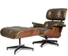 670 Style Mid Century Lounge Chair and Ottoman in Premium Leather - Onske