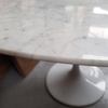 Oval Tulip Carrara Marble Dining Table 200cm to seat 8 to 10 - Onske