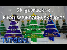 Load and play video in Gallery viewer, VORLAGE 3D Druck: Flexi Weihnachtsbaum