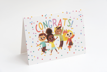 Load image into Gallery viewer, greeting card blank inside fine art notecards children celebrate happy birthday get well soon congrats thank you