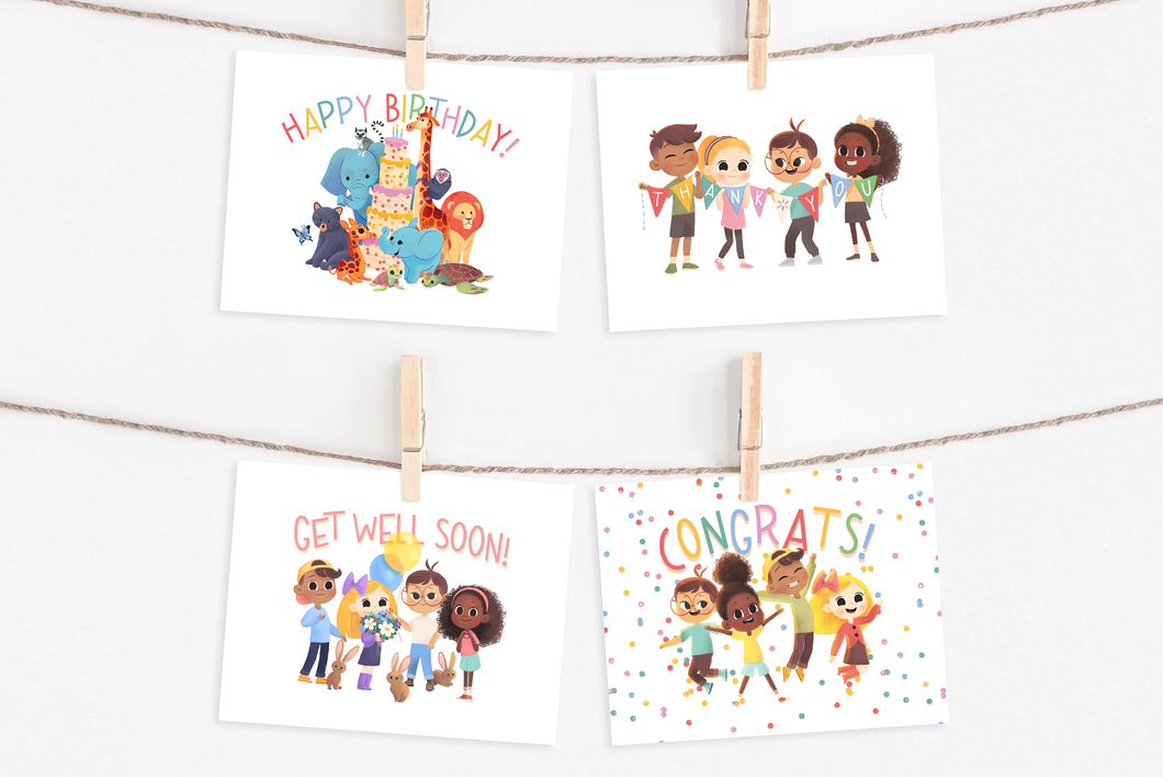 Wonder Bunch Greeting Cards - Set of 12