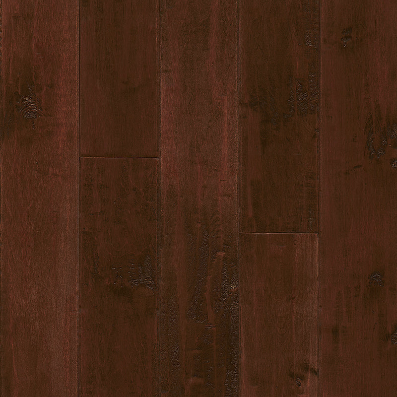American Scrape Maple Solid Cranberry Woods