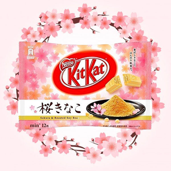 Kit Kat Sakura Roasted Soybean (Japan)