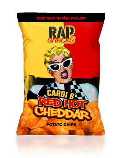 Rap Snacks Cardi B Red Hot Cheddar