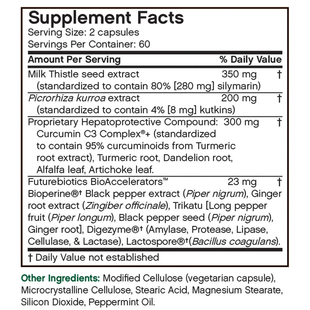 Futurebiotics Detox Daily Liver Support, 120 Capsules
