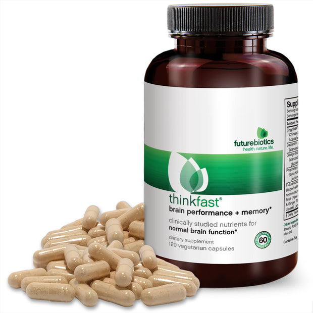 Futurebiotics ThinkFast Brain Performance + Memory, 120 Capsules