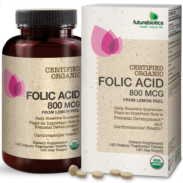 Futurebiotics Folic Acid Bottle and Box