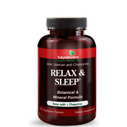 Front View of Futurebiotics Relax & Sleep Support Supplement Bottle