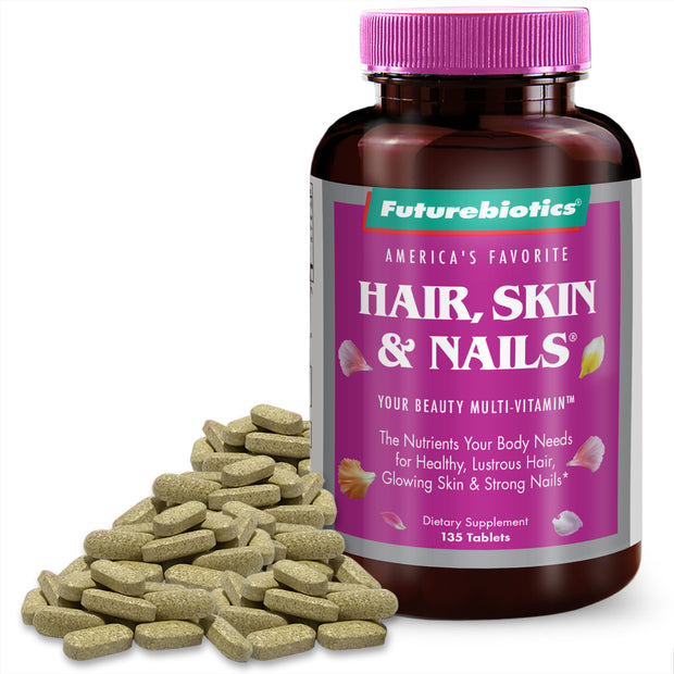 Futurebiotics Hair, Skin, & Nails Beauty Multivitamin, 135 Tablets