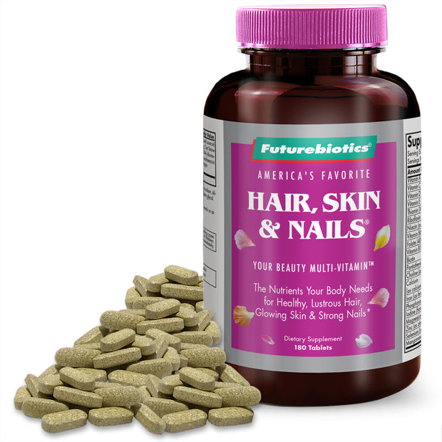 Futurebiotics Hair, Skin, & Nails Beauty Multivitamin, 180 Tablets