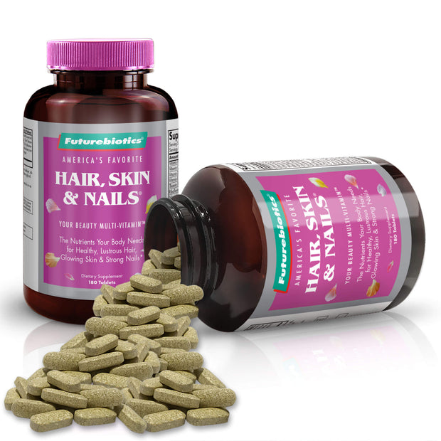 Futurebiotics Hair, Skin, & Nails Beauty Multivitamin Bottles and Supplements