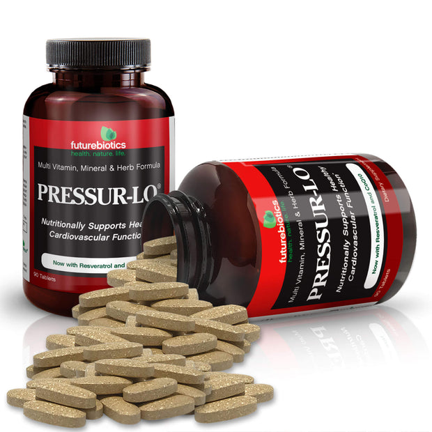 Futurebiotics Pressur-Lo Cardiovascular Supplement, 90 Tablets - Bottles and Supplements