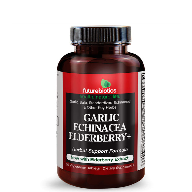 Futurebiotics Garlic Echinacea Elderberry, Immune Support, 60 Tablets