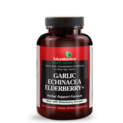 Front View of Futurebiotics Garlic Echinacea Elderberry Immune Support Bottle