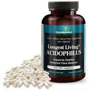 Futurebiotics Longest Living Acidophilus+ Probiotic Supplement, 100 Capsules (14.5mg of Probiotics per Capsule)