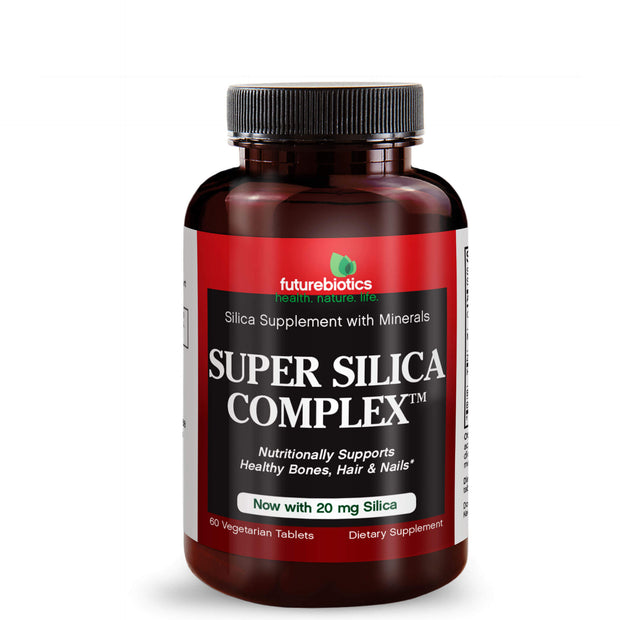 Front View of Futurebiotics Super Silica Complex Bottle