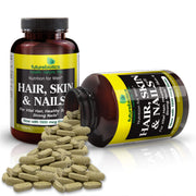 Futurebiotics Hair, Skin, & Nails Nutrition for Men Bottle and Supplements