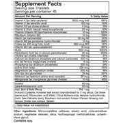Nutritional Label for Futurebiotics Hair, Skin, & Nails Nutrition for Men