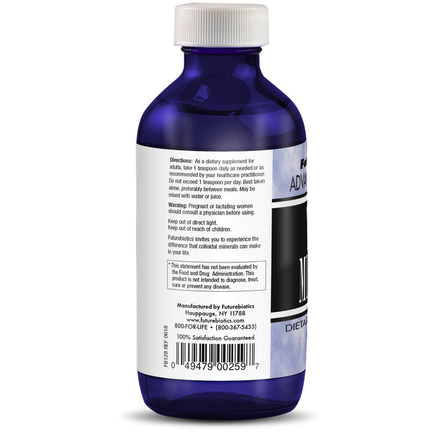 Back View of Futurebiotics Advanced Colloidal Bottle