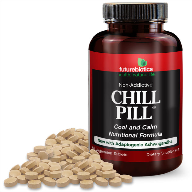 Futurebiotics Chill Pill, Natural Relaxation Supplements, 60 Tablets
