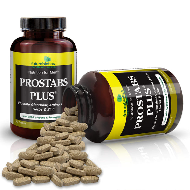 Futurebiotics Prostabs Plus Prostate Health Tablets Bottles and Supplements
