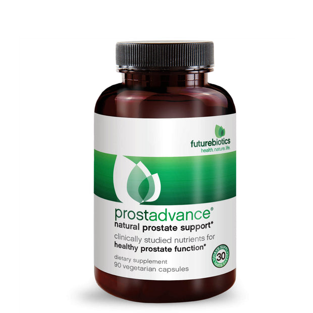 Front View of Futurebiotics ProstAdvance Natural Prostate Support Bottle