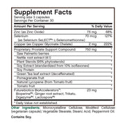 Nutritional Label for Futurebiotics ProstAdvance Natural Prostate Support