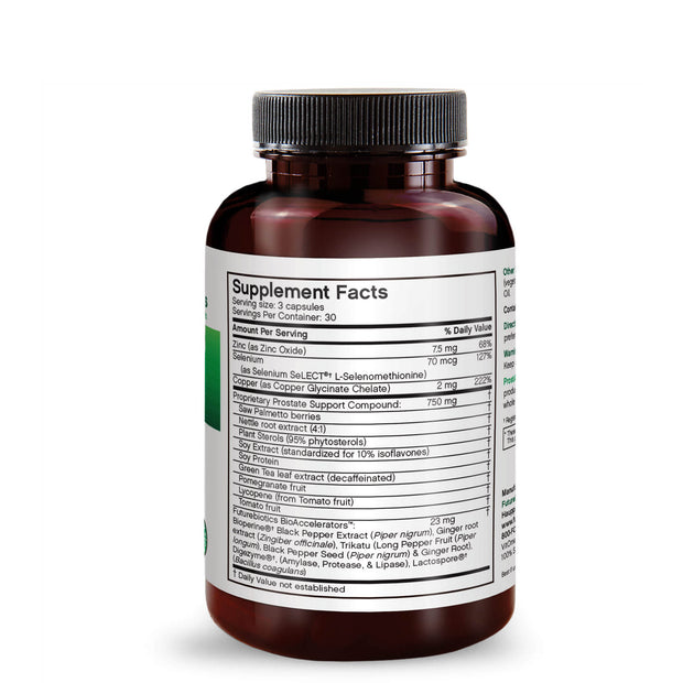 Side View of Futurebiotics ProstAdvance Natural Prostate Support Bottle