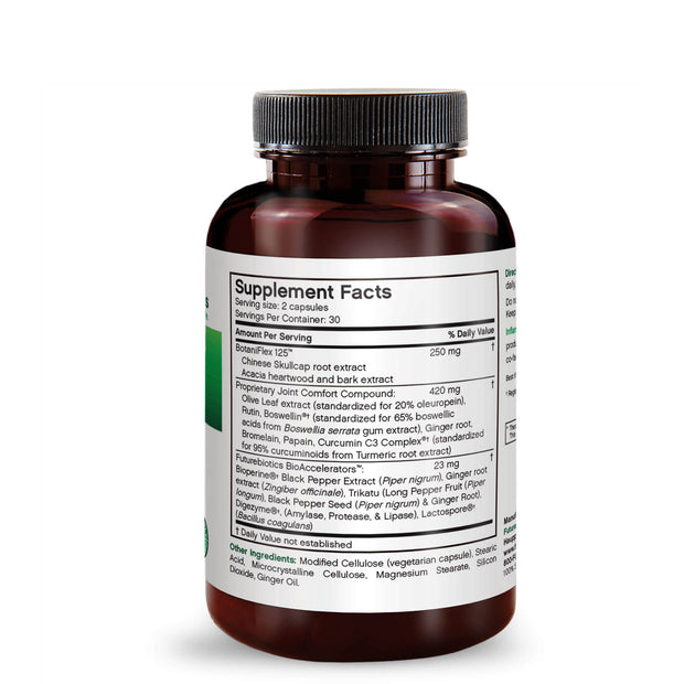 Side View of Futurebiotics InflamMotion Joint Inflammation Complex Bottle