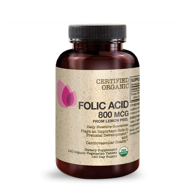 Front View of Futurebiotics Folic Acid Bottle