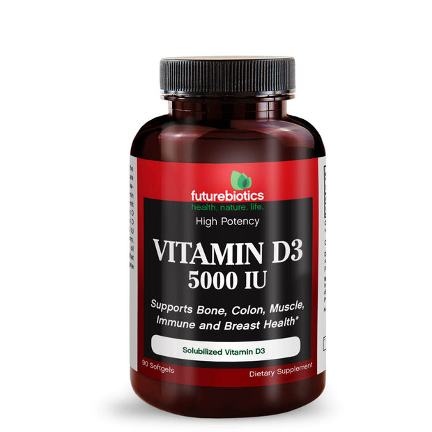 Front View of Futurebiotics Vitamin D3 Bottle