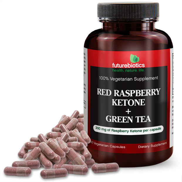 Futurebiotics Red Raspberry Ketone + Green Tea, 60 Capsules