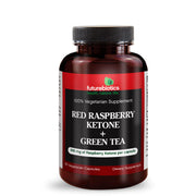 Front View of Futurebiotics Red Raspberry Ketone + Green Tea Bottle