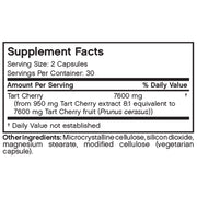 Nutritional Label for Futurebiotics Tart Cherry