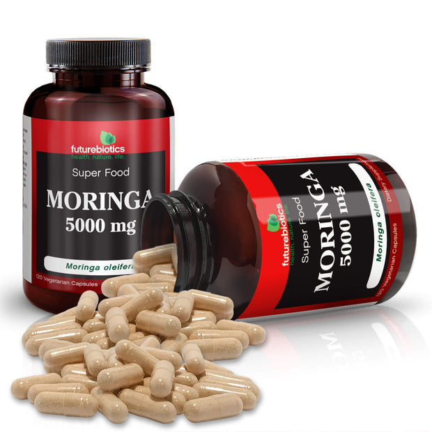 Futurebiotics Moringa Bottles and Supplements