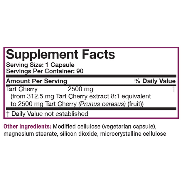 Nutritional Label for Futurebiotics Tart Cherry 2500mg