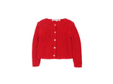 Mini Lama - Pre-loved Red Cardigan 12 months by BONPOINT