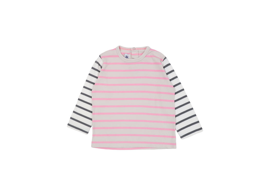 Mini Lama - Pre-loved Pink T-shirt 24 months by PETIT BATEAU