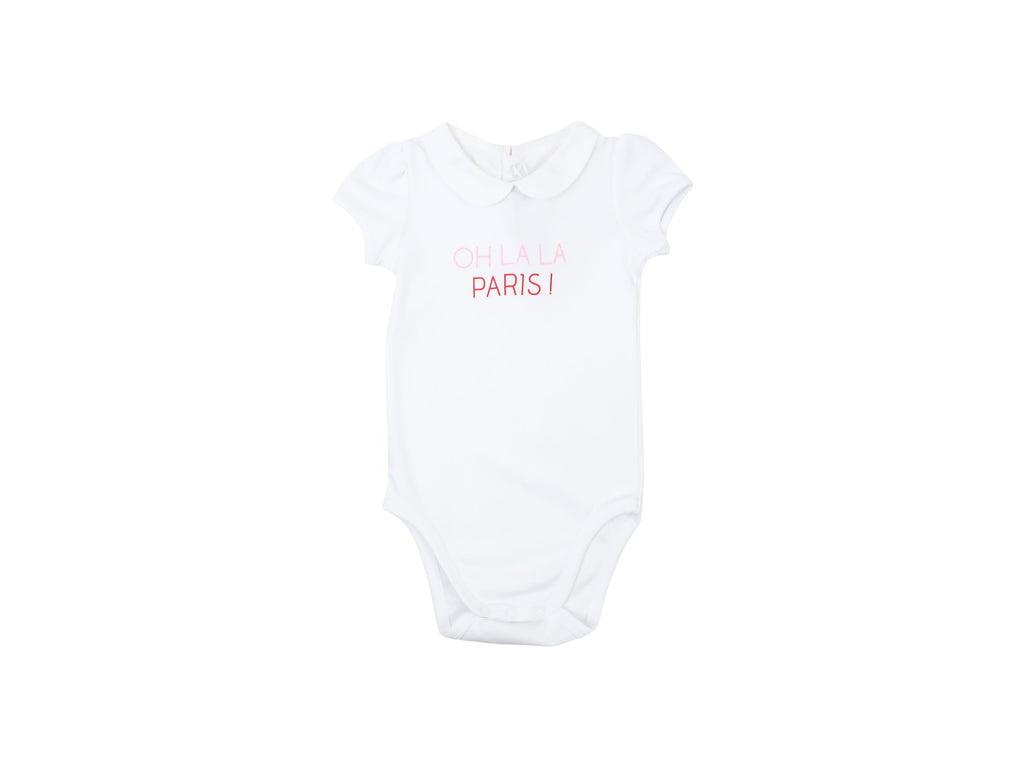 Mini Lama - Pre-loved White Bodysuit 12 months by JACADI
