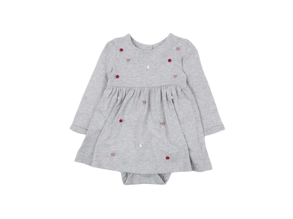 Mini Lama - Pre-loved Grey Dress 9 months by MOTHERCARE