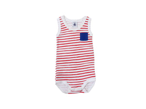 Mini Lama - Pre-loved Red Bodysuit 3 months by PETIT BATEAU