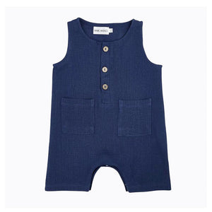 Mini Lama - Pre-loved Blue Romper Newborn by BABE BASICS